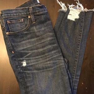 "Madewell 32T 9"" Skinny Jeans"